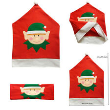 Christmas Table Decorations Elf Elves Hat Dining Chair Cover Xmas Festive Decor