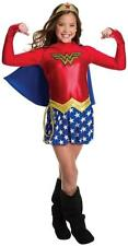 Wonder Woman Long Sleeve DC Comics Superhero Fancy Dress Halloween Child Costume