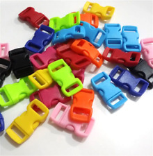 100pc Colored Curved Side Release Plastic Buckles For Umbrella Paracord Bracelet