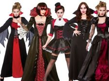 Adults Vampire Halloween Fancy Dress Costume Vampiress Outfit 5 Styles