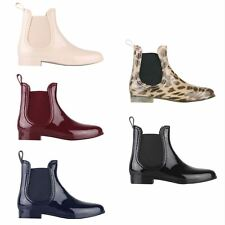 Womens Ladies Ankle Wellies Chelsea Wellington Boots Rain Garden Walking Shoes