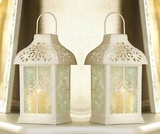 "White Gazebo Wedding Candle Lantern 9 1/2"" (Set of Two) Wedding Supplies 14617"