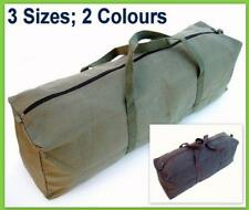 Heavy Duty Canvas Tool Carry Bag Travel Luggage Duffel Duffle Tote Bike Army New