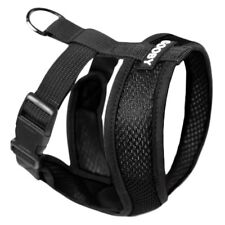 Gooby Fully adjustable Choke Free Comfort X Soft Harness Black Size Small-Large