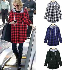 Unisex Men Lady Hipster Plaid Loose T Shirt High Street Fashion Swag Outwear Hip