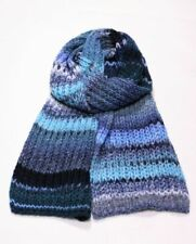 GEBEANA Knit Scarf Blue Chunky Knitted Winter Made in Germany Multicoloured