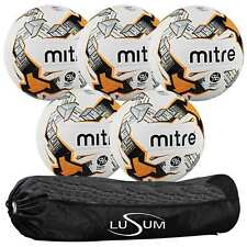 Mitre Ultimatch Hyperseam Football 5 Ball Pack with Tubular 5 Ball Bag