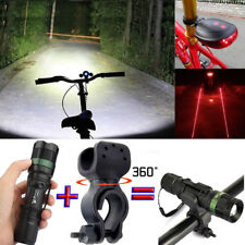 Ultrafire Zoomable 20000LM XML T6 LED Flashlight Torch+Bike Holder Hiking Torch