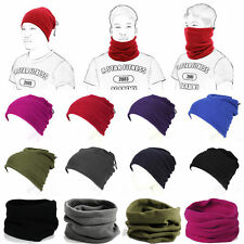 Warm Drawstring Adjustable Multifunction Neckerchief Scarf Hat Mask ES9P