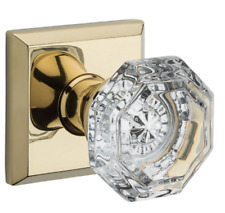 Baldwin Crystal Reserve Traditional Square Rose Half Dummy Door Knob  7 Finishes