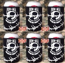 US POW MIA Never Forget CAN KOOZIE COOLER Wrap Insulator Sleeve Jacket Holder