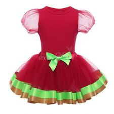 My 1st Christmas Newborn Girl Baby Clothes Christmas Romper Tutu Dress Outfit
