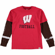 Wisconsin Badgers Wes & Willy Youth W&W Football Fooler   T-Shirt - Red