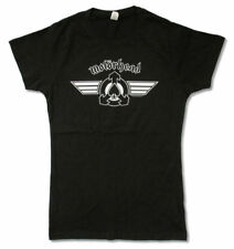 Motorhead Winged Ace Of Spades Image Girls Juniors Black T Shirt New Official