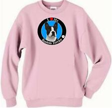 Dog Sweatshirt - I Love My Boston Terrier - Adopt Rescue T Shirt  Available # 71