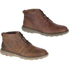 Caterpillar Trey Mens Brown Leather Cat Ankle Chukka Boots Size UK 7-12