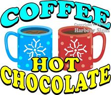 Coffee Hot Chocolate DECAL (Choose Your Size) Food Truck Concession Sticker