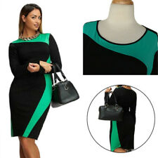 Long Sleeve Dress Large Size Dress Trendy Two Colors Round Neck Women's