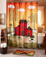 Barnyard Bathroom Collection 7 PC Shower Curtain and More Cows Farmhouse New