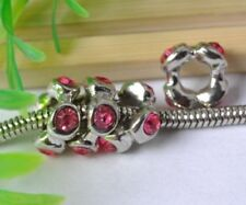 FREE SHIP 10pcs Nice red crystal Beads Fit Europe Bracelet F0903