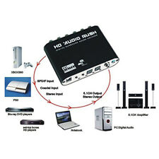 Digital Audio Decoder Dolby DTS AC-3 SPDIF Coaxial to Analog 5.1 Stereo Surround