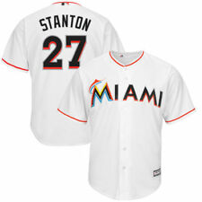 Miami Marlins Majestic Youth Official Cool Base Player Jersey Baseball - White