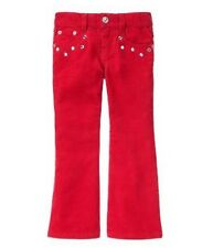 NWT Gymboree Girls Winter Cheer Embellished Red Corduroy Pants Size 3 5 12