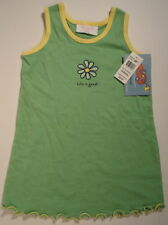 LIFE IS GOOD Boo Boo Daisy Flower Dress  Green Yellow NWT Girls Size 12 Month