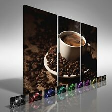 Coffee Cup with Beans Treble Canvas Print Large Picture Wall Print