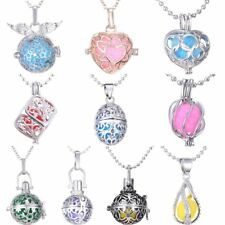 Fragrance Aromatherapy Heart Wing Locket Cage Pendant Oil Diffuser Necklace Hot