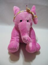 """Applause Pink Elephant Plush Sweethearts Candy Stuffed Animal Toy 10"""" Soft"""