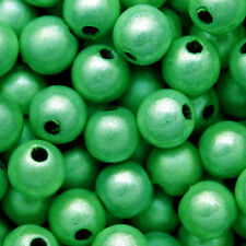 MIRACLE BEAD GREEN COLOR IRIDESCENT GLOW 4MM 6MM 8MM ROUND JEWELRY CRAFT BEADS