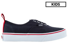 Vans Kids' Authentic Elastic Shoe - Parisian Night/Racing Red