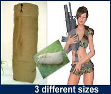 Heavy Duty Canvas Military Army Duffle Bag Outdoor Sports Rucksack 3 Size NB NEW