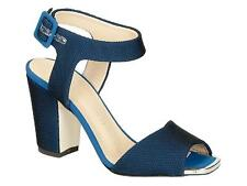 Giuseppe Zanotti high block heels ankle strap sandals in blue Tech fabric