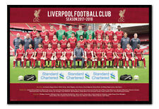 Liverpool FC Team Photo 2017 / 2018 Season Framed Cork Pin Board With Pins