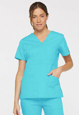 Turquoise Dickies EDS Signature Mock Wrap Scrub Top 86806 TQWZ