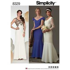 SIMPLICITY SEWING PATTERN MISSES EVENING PROM WEDDING DRESS SIZE 4 - 20 8329
