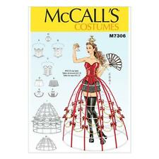 McCALL'S SEWING PATTERN MISSES' COSTUMES BONED CORSETS SHORTS HOOP SKIRTS M7306