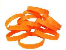 Orange Awareness Bracelets Lot of 12 Piece Silicone Wristband Cancer Cause New
