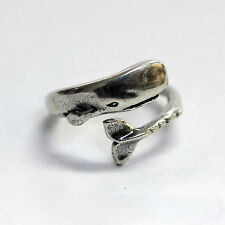Silver Moby Dick Ring Sperm Whale  Wrap Hug Bypass 327
