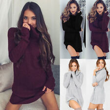 Women Casual Long Sleeve Cowl Neck Pullover Loose Sweater Jumper Top Knitwear