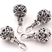 10/20Pcs Tibetan Silver Hollow Out Charm Beads Pendant Diy Jewelry Findings 25mm