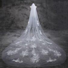 New Elegant Wedding Veils 1 Layer 300 m White/Ivory Lace Wedding Veil