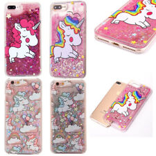 Lovely Cute Unicorn Clear Hard Case Shockproof PC Cover For iphone 5S 6S 7 8 X