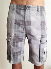 NEW MENS LEVI SHORTS CARGO 1 PLAID COTTON 36 RELAXED FIT BELOW KNEE 124630293