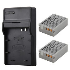 2X Replacement NB-10L Battery+ Charger for Canon G16 SX40HS SX50HS SX60HS Camera