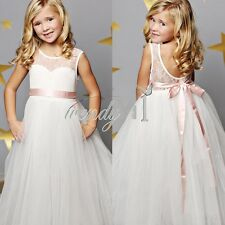 Flower Girl Dress Princess Pageant Wedding Birthday Party Bridesmaid Kid Dress