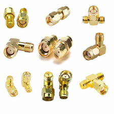 Lots RF Coaxial Plug SMA RP-SMA Male Female Adapter Connectors Gold Printed Fine