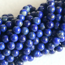 Wholesale Natural Genuine Blue Lapis Lazuli Round Loose Gems Beads 4-12mm 16""